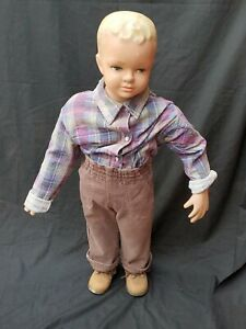 Rare Vintage 1950s Child 2-3 year Old Boy Composition Mannequin
