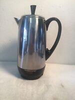 Vintage Farberware Superfast Model 142B 12 Cup Electric Coffee Percolator Clean