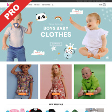 Kids Clothes Store Ready To Go Dropshipping Website Business For Sale