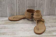 L.A.M.B Otter Fringe Sandals - Women's Size 9.5, Natural