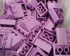 LEGO 10 Medium Lavender Purple Slopes 45 Degree 2 x 3