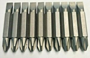 VERY STRONG DOUBLE ENDED DRIVE BIT PHILLIPS (PH2) & SLOTTED (SL6) 45MM 10 PCS