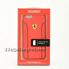 Scuderia Ferrari Leather Hard Shell Case Snap Cover for iPhone 6 iPhone 6s (Red)