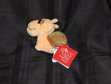 "Russ Berrie LIL PEEPERS Tan/Brown/Green 4"" Plush *SLOW* Big Eyes SNAIL NEW"