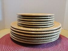 Debby Segura Sorrento Dinner ~Salad Plates 12 pc Signature Debby Gold Wheat