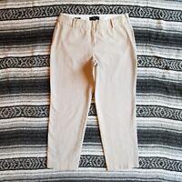 Womens Talbots Petites Sz 8P Mid Rise Stretch Cropped Capri Pants Khaki Beige