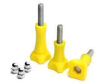 Thumb Knob Bold/Screw f. GoPro Go Pro HD HERO 1,2,3 Zubehör Schraube Yellow