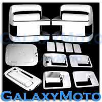 11-16 Ford Super Duty Chrome Mirror+4 Door Handle w/o PSG KH+Tailgate+GAS Cover