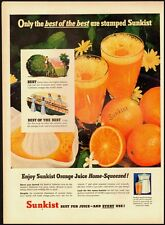 1951 Vintage ad for Sunkist Orange Juice/Daisy flowers in ad (022713)