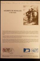 FRANCE MUSEE POSTAL FDC 09-89   VICOMTE DE NOAILLES  2,20+0,50F  MAINTENON  1989