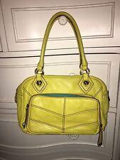 oryany Yellow Leather Organizer handbag Medium