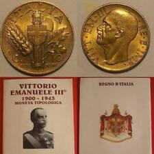 10 CENTESIMI 1939 IMPERO FIOR DI CONIO OTTIMO BRONZO DORATO ITALY TOP