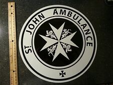 Doctor Who, SAINT JOHN , ALUMINUM sign,TARDIS  Dr. Who, St. John  AMBULANCE sign