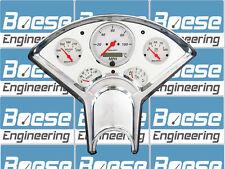55-56 Chevy Billet Aluminum Dash Panel Insert w/ Auto Meter Arctic White GPS