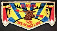 OLD EL-KU-TA OA LODGE 520 GREAT SALT LAKE COUNCIL UTAH PATCH ELK SERVICE FLAP