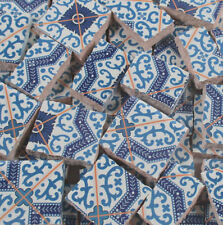 Ceramic Mosaic Tiles - Blue And White Moroccan Tile Design Mosaic Tile Pieces