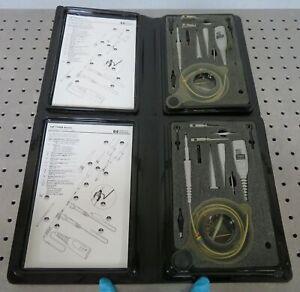 C175418 Lot 2 HP 1162A 1:1 Passive Oscilloscope Probe 25MHz 50pF 1MOhm w/ Acc'y