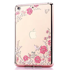 Silm Crystal Diamond Clear Silicone Electroplate Case Cover for iPad mini 1 2 3