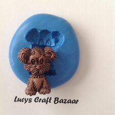 Silicone Mould Dog 2 Puppy Cake Decorating Sugarpaste Fimo Polymer Clay Icing
