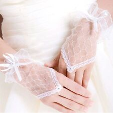 Fingerless Lace Short Gloves Wedding Bridal Evening Party Prom Costume Gloves