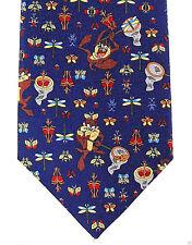 Looney Tunes Taz Mens Silk Necktie Cartoon Neck Tie Devil Bug Collector Gift New