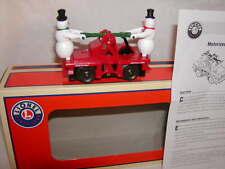 Lionel 6-82701 Escaping Snowmen Christmas Handcar O-27 Hand Car 2015 Display