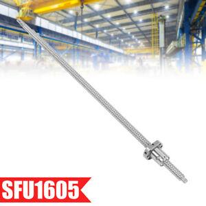 SFU1605 Kugelgewindespindel Kugelumlaufspindel Spindelmutter CNC Spindel 600mm #