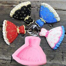 Girl Dress Skirt Fondant Sugarcraft Mold Silicone Cake Decorating Baking Tool