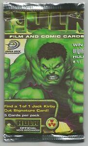 HULK FILM AND COMIC CARDS ~ SEALED PACK ~ 2003 UPPER DECK TRADING CARDS ~ MARVEL