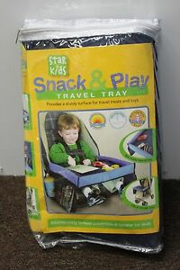 SNACK & PLAY CAR SEAT TRAY Star Kids Travel Waterproof Toddler Table Airplane
