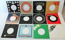 12 VINTAGE 45 RPM COMPANY SLEEVES RCA*ARIOLA*BANG*PYE*PVK ETC  70's ERA