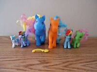 """Mixed Lot Of 6 My Little Pony Type Of Toy Figures """" GREAT COLLECTIBLE LOT """""""
