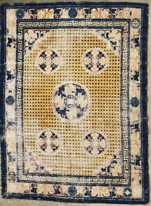 Antique rug/carpet Chinese China 1800