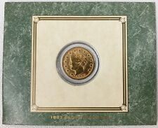 1883 Racketeer Gold Plated Liberty Head V Nickel 5C No-Cents