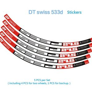 Two Wheel Sticker for DT 533D 533 Mountain Bike MTB Cycling Decals
