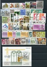 SPAIN 1986 COMPLETE YEAR MNH Stamps & Sheet 48 Items