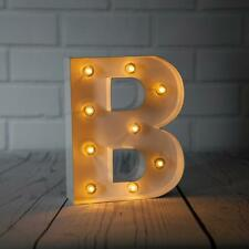 White Marquee Light Letter 'B' LED Metal Sign (8 Inch, Battery Operated, Timer)