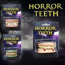 Vampire Teeth Halloween Fancy Dress Cosplay Dentures Zombie Teeths Ghost Devil