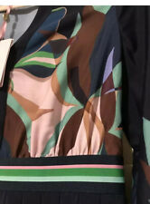 🖤💚 Ted Baker LEONORE Supernatural Pleated midi dress RRP £199 Size 2 UK 10