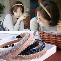 Women Girls Crystal Headband Headwear Ornament Crown Rhinestone Hair Band