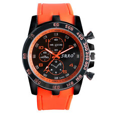 New Stainless Steel Case Luxury Sport Analog Quartz SBAO Men Fashion Wrist Watch
