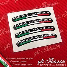 Set 4 Adesivi Cerchi Marchesini FORGED ALUMINIUM fondo nero