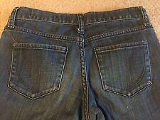 PAPER DENIM & CLOTH 26x32 Natalie Low-Rise Peg Leg Blue Jeans Dark Blue