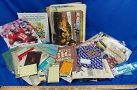 Huge Estate Ephemera LOT Collection Books Ads Ticket Stubs Sewing Kit Sports Art