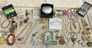 Vintage & Modern Jewellery Lot Bundle Inc Sterling Silver | Pearls | Stratton