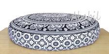 "32X6"" Indian Mandala Pillow Meditation Cushion Pouf Covers Ottoman Seat Cover"