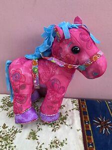 "Doodle Pony Plush Horse Write-on Washable Doodle Bear Family Pink 12"" Tall"