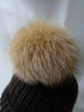 15cm minte Fellbommel mit längeren schwarzen Spitzen Pelzbommel BRANDNEU❤️