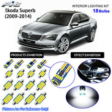 18 Bulbs LED Interior Dome Light Kit 6000K Cool White For 2009-2014 Skoda SuperB