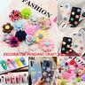 50Pcs Resin Rose Beads Buttons Embellishments Scrapbooking DIY Crafts Decoration